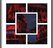 ROME - Colosseum in red - October 10th 2010 - A collage by Daniela Cifarelli