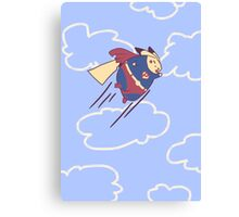 Flying Superpika Canvas Print