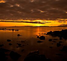 104 second exposure of Arran sunset by lumix