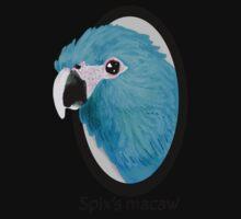 Spix's macaw One Piece - Short Sleeve