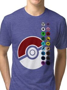 Pokemon Pokeball Energy Complete  Tri-blend T-Shirt
