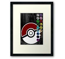 Pokemon Pokeball Energy Complete  Framed Print