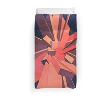 Vintage Orange Rectangles Duvet Cover