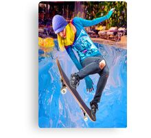 Skateboarding on Water Canvas Print