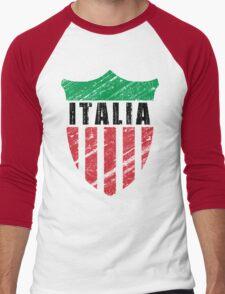 Vintage Italy Emblem Men's Baseball ¾ T-Shirt