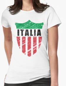 Vintage Italy Emblem Womens Fitted T-Shirt