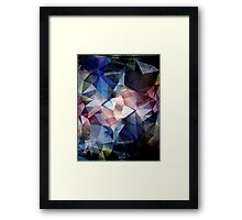 Textured Triangle Abstract Framed Print