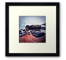 Castles In The Sand Framed Print