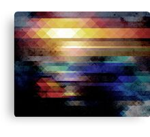 Abstract Geometry of Colors Canvas Print