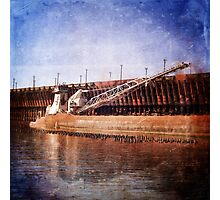 Vintage Great Lakes Freighter Photographic Print