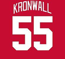 Detroit Red Wings Niklas Kronwall Jersey Back Phone Case by Russ Jericho