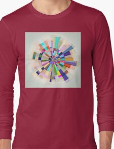 Abstract Color Wheel Long Sleeve T-Shirt