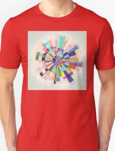 Abstract Color Wheel Unisex T-Shirt