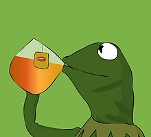 Kermit sipping tea by DaftPina