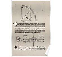Measurement With Compass Line Leveling Albrecht Dürer or Durer 1525 0109 Repeating Shapes Poster
