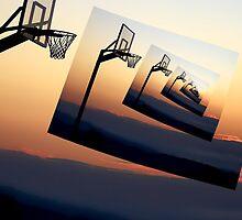 Basketball Hoop Silhouette by Phil Perkins