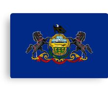 State Flags of the United States of America -  Pennsylvania Canvas Print