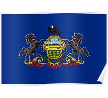State Flags of the United States of America -  Pennsylvania Poster