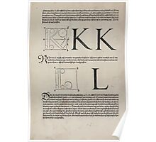 Measurement With Compass Line Leveling Albrecht Dürer or Durer 1525 0122 Alphabet Letters Calligraphy Font Poster