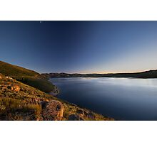Dusk at Solider Creek Reservoir Photographic Print