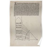 Measurement With Compass Line Leveling Albrecht Dürer or Durer 1525 0114 Repeating Shapes Poster