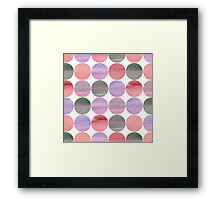 Abstract pink pattern Framed Print