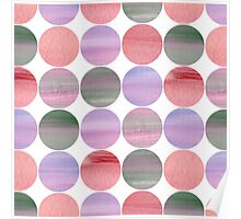 Abstract pink pattern Poster