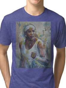 Serena Williams - Portrait 5 Tri-blend T-Shirt