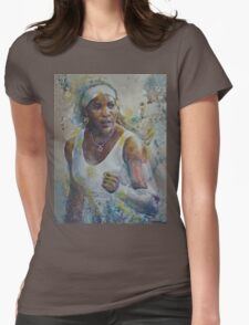 Serena Williams - Portrait 5 Womens Fitted T-Shirt