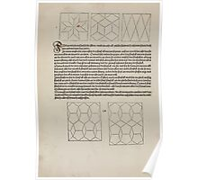 Measurement With Compass Line Leveling Albrecht Dürer or Durer 1525 0066 Repeating Shapes Poster