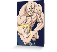 fullmetal alchemist alex louis armstrong anime manga shirt Greeting Card