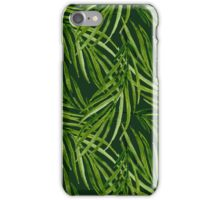 Tropical leaf pattern iPhone Case/Skin