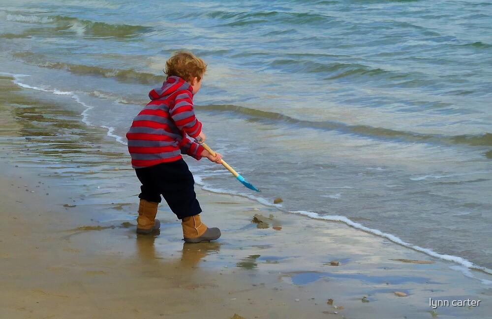 Child On Beach by lynn carter