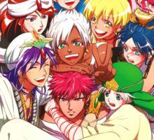 magi sinbad alibaba aladdin anime manga shirt Sticker
