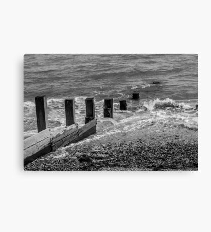 Monochrome Sea Canvas Print