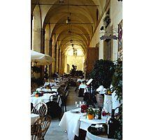 Cafe life, Arezzo Photographic Print