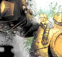 Blitzcrank League of Legends Champion Digital Mixed Media Painting. by StRes