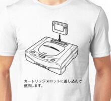 Sega Saturn Diagram (White) Unisex T-Shirt