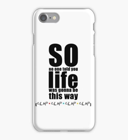 Friends Theme - Simple Typography Collection iPhone Case/Skin