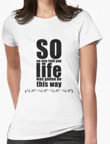 Friends Theme - Simple Typography Collection Womens Fitted T-Shirt