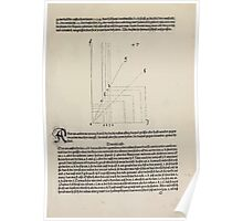 Measurement With Compass Line Leveling Albrecht Dürer or Durer 1525 0161 Repeating and Folding Shapes Poster