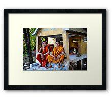 'The Smiles of the monks' Framed Print