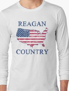 Retro 80s Reagan Country Long Sleeve T-Shirt