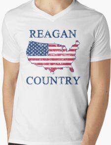 Retro 80s Reagan Country Mens V-Neck T-Shirt
