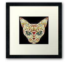 Calavera Cat Framed Print