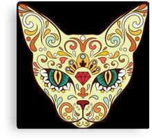 Calavera Cat Canvas Print