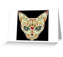 Calavera Cat Greeting Card