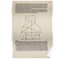 Measurement With Compass Line Leveling Albrecht Dürer or Durer 1525 0159 Repeating and Folding Shapes Poster