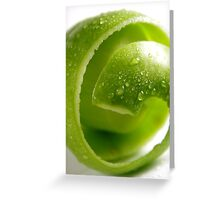 Crispy Green Apple Greeting Card
