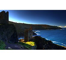 Crown Tin Mines as the day breaks Photographic Print